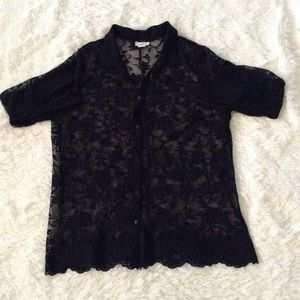 Sheer Avenue black lace top